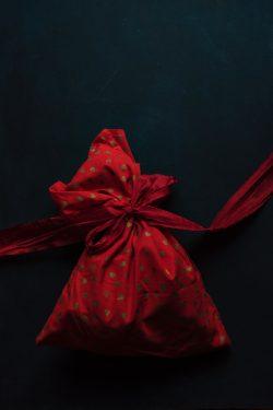 Photo of a red velvet sack
