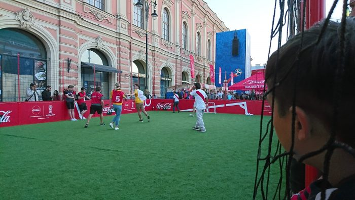3v3 football in Saint Petersburg Fan Fest