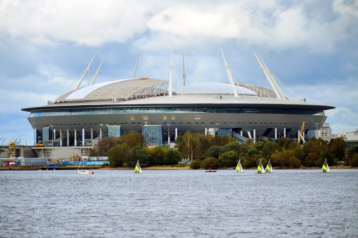 st petersburg stadium sea