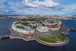 Eastern tip of St Petersburg's Vasiilyevsky Island