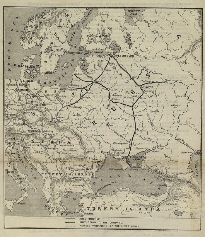 the map of the railroads