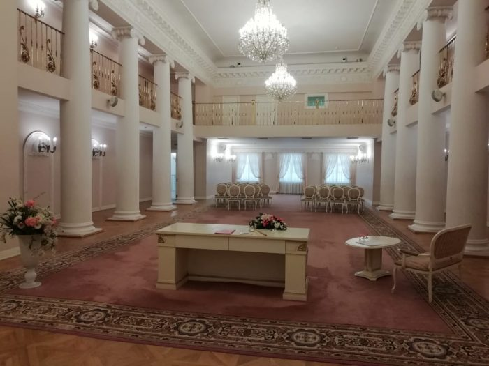 The interior of the Wedding Palace