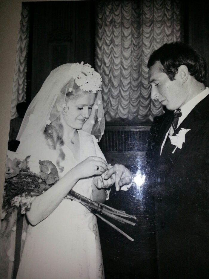 My husband's great aunty's wedding in September 1978, at the Central Wedding Palace, Angliiskaia Naberezhnaia, St Petersburg