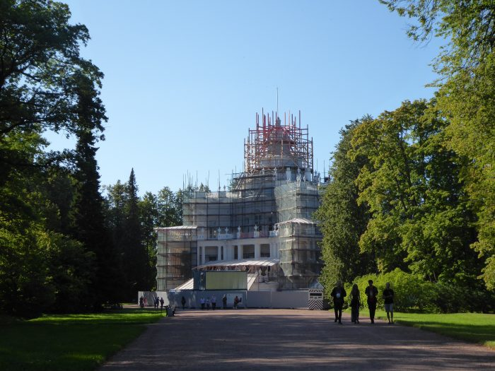 The refurbishment of the pavilion